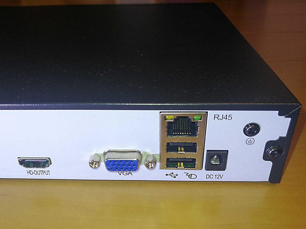 Westshine 16CH防犯録画機 H.265デジタルレコーダー 5MP NVR 防犯レコーダー 背面
