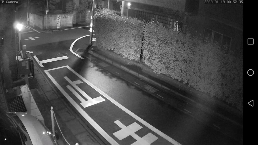防犯カメラ 夜間 映像